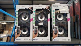 8 X Bluetooth Wireless Music Blaster & Radio Tuner