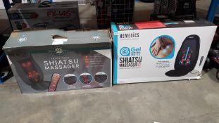 2 Items - 1 X Well Being Triple Mode Shiatsu Massager & 1 X Homedics Gel Shiatsu Massager Wit...