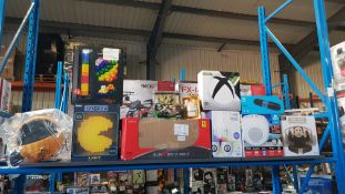 11 Items - Mixed Lot To Include Pacman Light, He Lightshow Water Speakers, iDance LED Cube, L...