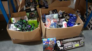 Contents Of 2 Boxes - Mixed Lot To Include 360 Spin Stunt Car, Zombie Blast, Ball Launcher & ...
