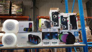 11 Items - Mixed Speaker Lot To Include 2 X iDance, 3 X Wireless Music Blaster & Radio Tuner,...