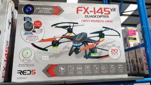 2 X Red5 FX-145 V2 Quadcopter FPV