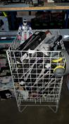 Contents Of Cage - Mixed Lot To Include Digital Drum Sticks, Motion Robot, Headphone & Plasma...