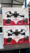 2 X Red 5 GPS Hawk FPV Drone