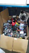 Contents Of Large Box - Mixed Lot To Include RC Wall Climbing tarantula, Retro Mini Arcade, L...
