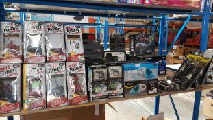 26 Items - 12 X Red5 Wall Rider, 6 X Red5 HD 1080pAction Camera, 4 X Car USB Vacuum & 4 X Jump...