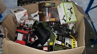 Contents Of Large Box - Mixed Lot To Include Nano Drone Pro, Crash Bandicoot Bell Jar, Flexible...