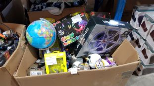 Contents Of Box - To Include LED Wheel Rim Clock, Globe Power Popper Guns & Feisty Pets