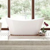 NEW (N2) 1700x760mm Belmont Freestanding Bath. RRP £2,999.Visually simplistic to suit any bat...