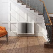 (CC86) 600x812mm White Triple Panel Horizontal Colosseum Traditional Radiator. RRP £542.99.Fo...