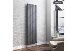 New Boxed 1600X452Mm Anthracite Single Flat Panel Vertical Radiator. Rc209.Rrp £307.99 Each. ...