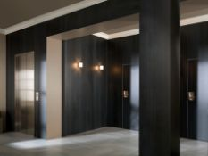 NEW 7.76M2 Porcelanosa Concrete Black Nature Wall and Floor Tiles. 29.7x29.7cm per tile, 0.97m2...