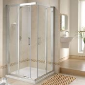 NEW Twyford GEO6 900x900mm Sliding (2 Door) Corner Entry Enclosure; 6MM Glass. RRP £739.99.G5...