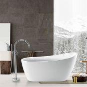 NEW (N8) 1700x800mm Freestanding Modern Slipper Bath. Single Ended. RRP £3,499.This Freestan...