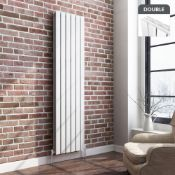 New & Boxed 1800X480mm Gloss White Double Flat Panel Vertical Radiator. Rrp £499.99. Ara8/1800...