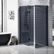 New (O37) S8 Mono Wetroom Panel 700mm With 275 Return. Rrp £380. 2000mm In Height 8mm Toughen...