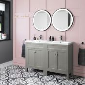 New & Boxed 1200mm Melbourne Earl Grey Basin Vanity. Rrp £1,299.99. Comes Complete With Basin...