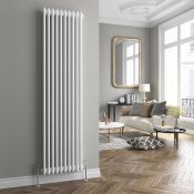 New & Boxed 1800X473mm White Triple Panel Vertical Colosseum Traditional Radiator. Rrp £574.99...