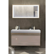 New & Boxed Keramag Citterio 1184mm Natural Beige/Oak Vanity Unit. Rrp £1,495.99. 835120+E5454...