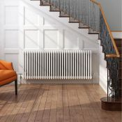 New (O11) 500X1042mm White Triple Panel Horizontal Colosseum Traditional Radiator. Rrp £395.9...