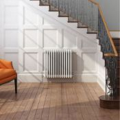 New (O12) 500X628mm White Double Panel Horizontal Colosseum Traditional Radiator.Rrp £444.99.F...