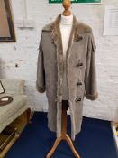 Retro Ladies Designer Sheepskin Duffle Coat