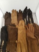 Vintage Ladies Suede Gloves