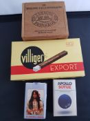 Vintage Cigar Boxes and Collectable Cigarette Packs