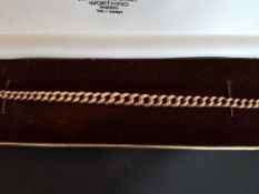 9ct Rose Gold Graduating Curb Link Bracelet