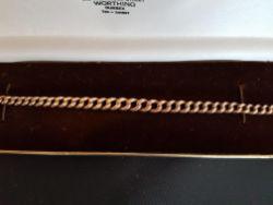 9ct Rose Gold Graduating Curb Link Bracelet