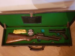 Webley Service Air Rifle and Webley Pistol in Case