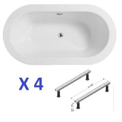 BS130 - 4 x Trend Double Ended Oval Baths With Legs RRP £1800