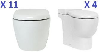 BS112 - 11 x Freeform Wall Hung Toilet Pans RRP £2750