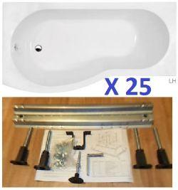 BS100 - 25 x Liberty P Shaped Baths RRP £11875