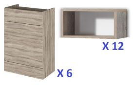 BS125 - 6 x Portfolio Toilet Units and Shelf Units RRP £2900