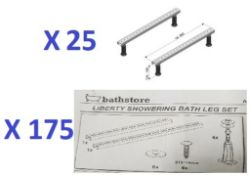 BS136 - 195 x Universal Fitting Bath Leg Sets RRP £7675