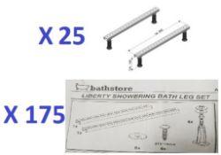 BS136 - 195 x Universal Fitting Bath Leg Sets RRP £7675