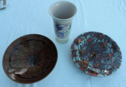 2 Poole Pottery Bowls and a Poole Pottery Vase