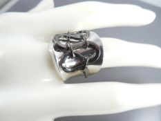 Silver ring - hand made.