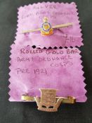 Military, Royal Ordnance Silver and Rolled Gold Brooches