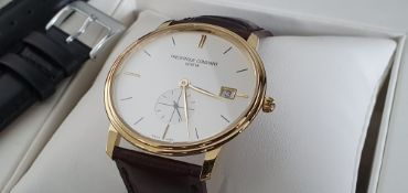 Frédérique Constant - slimline Gold plated NEW with box and papers