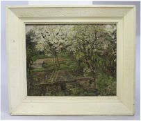 Norcot House Garden by Loveday Oil on Canvas