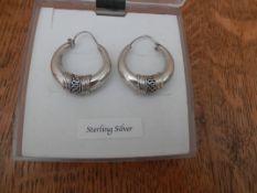 Boxed sterling silver earrings