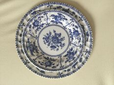 "Johnson Brothers "" Indies "" Blue & White Plates 24 pieces"