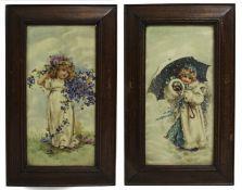 Pair of Victorian Framed Tiles