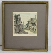 """Painswick"" Coloured Engraving Framed"