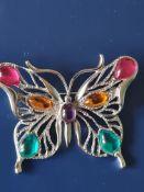 JJ Jonette Butterfly Brooch