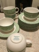 ROYAL DOULTON Tea Set expressions..LINEN LEAF... 8 Cups and Saucers....Brand New