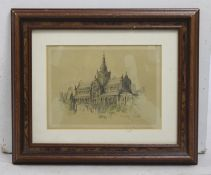 Glasgow Cathedral Print Signed