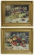 Pair of Signed Still Life Paintings Oil on Canvas